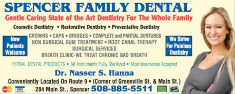 Advertisement: Spencer Family Dentistry
