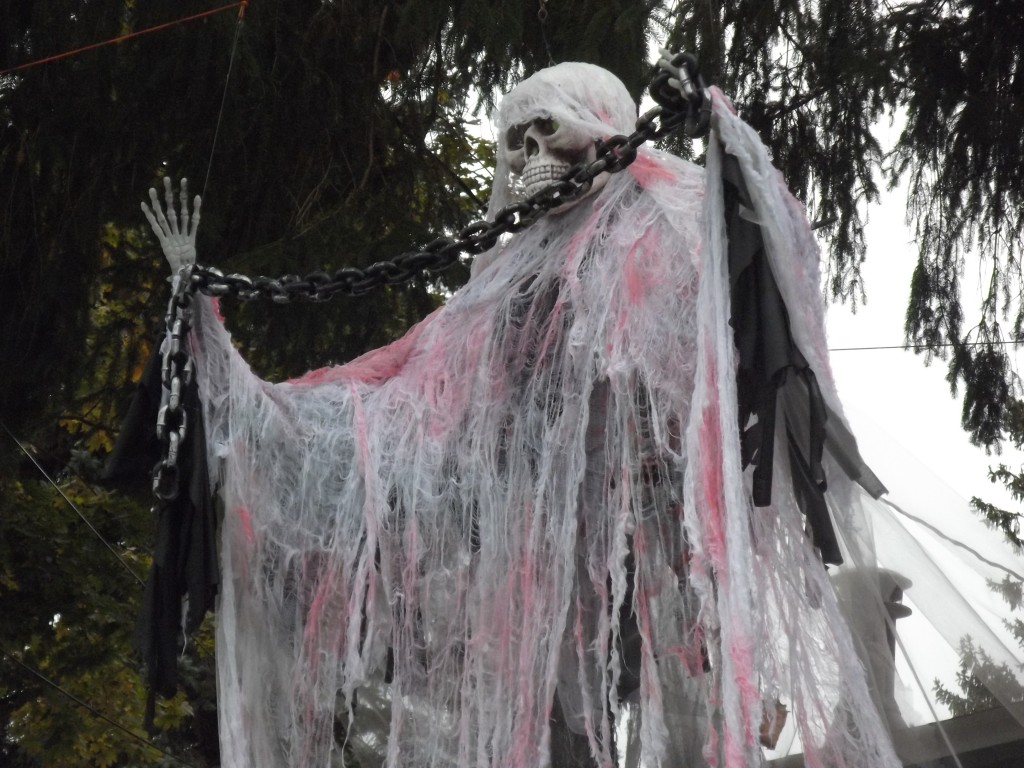 Spencer's ghost in chains Halloween 2015