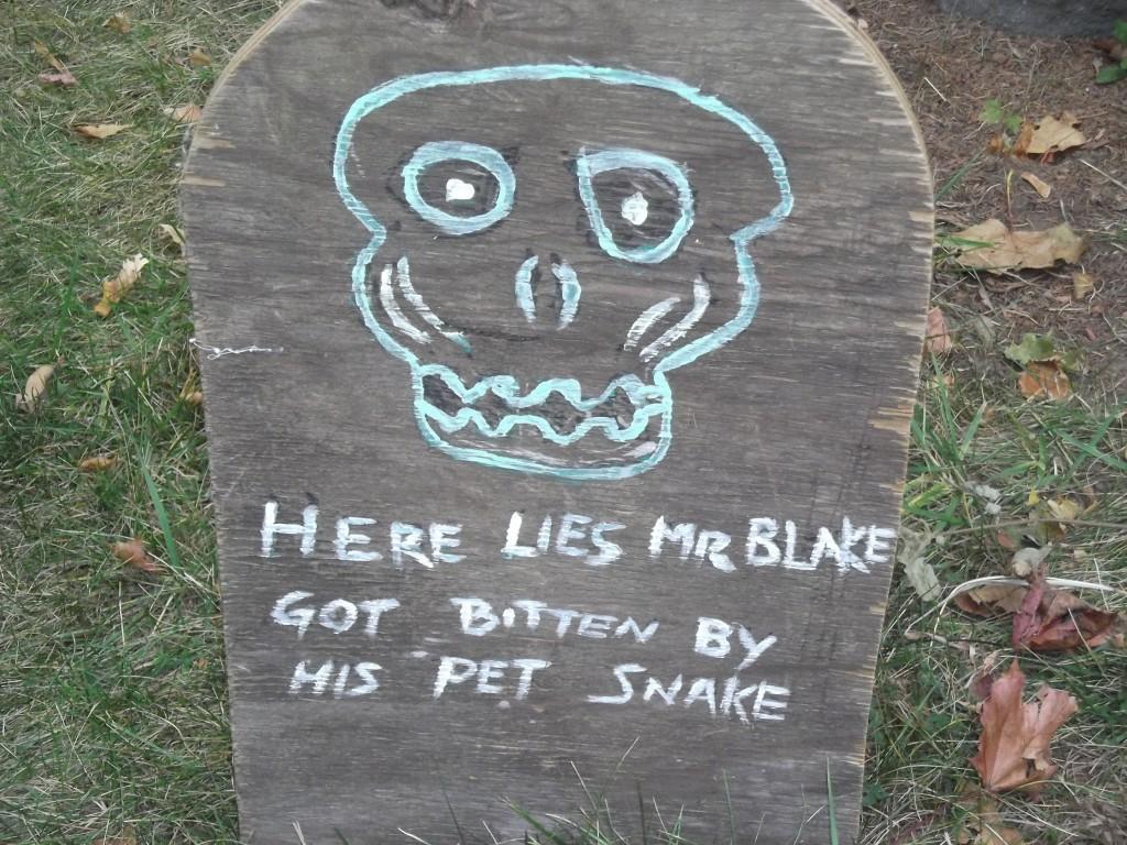 Here lies Mr. Blake!
